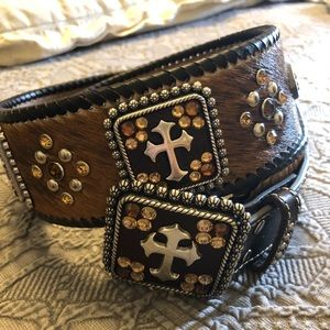 "Ladies western studded belt - 33.5"""